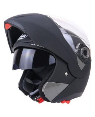 Full Face Street Bike Helmet Dual Visor with Transparent Shield