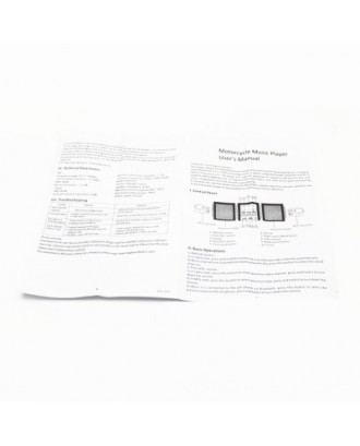 Motorcycle Speaker Bluetooth MP3 Player Waterproof Anti-theft Audio MT487