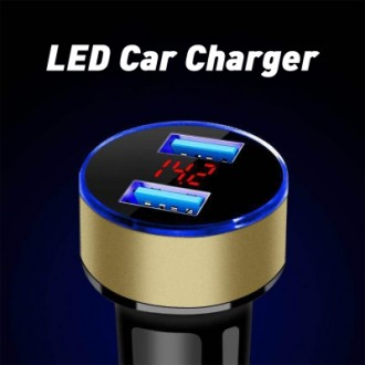 3.1A Dual USB LED Car Charger with Blue Indicator Light Multi-protection Universal for 12V/24V Vehic