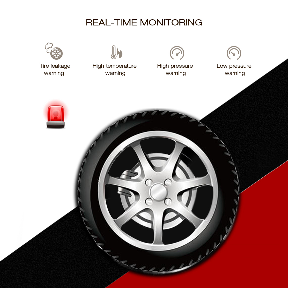 M1 Bluetooth Tire Pressure Monitoring System APP Mode 2PCS External Sensors for Motorcycles